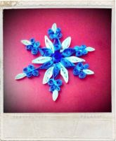 Quilled Snowflake! by comicalequation