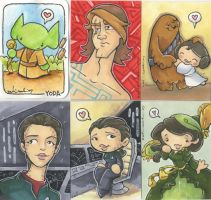even more nerdy sketch cards by katiecandraw