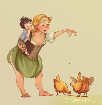 Chickens by ancalinar