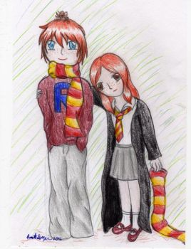 Ron and Ginny by kiraluna