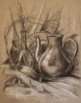 Still Life With Teapot and Vases by mary-petroff
