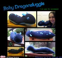 18'' Baby Dragonsluggie (SOLD) by SPPlushies