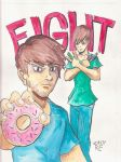 Food Battle Action -Smosh by TheAmazingZachRE