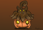 Drawing Challenge Day 381: Pumpkaboo by hayy1