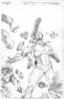 Iron Man cover sample by fragcomics