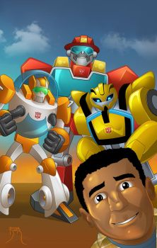 TF Rescue Bots Pinup 1 by Teyowisonte