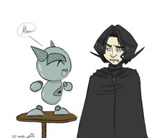 Snape and Fella by gilll
