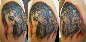 Healed Indian Portrait by Dripe