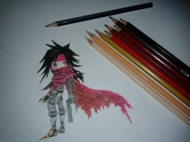 Vincent Valentine Chibi ^^ by IceAgony