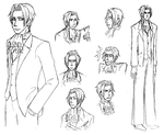 Sketches of Miles Edgeworth by Duck-san