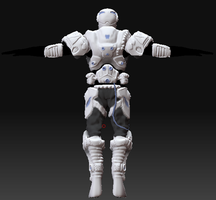 Romulus soldier - back view by gunzet
