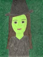 A Portrait of Elphaba by daisyplayer1