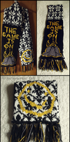 Sherlock-Themed '221B Baker Street' Scarf by ThePeculiarMissE