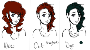 Hair Timeline by TheRedBanshee