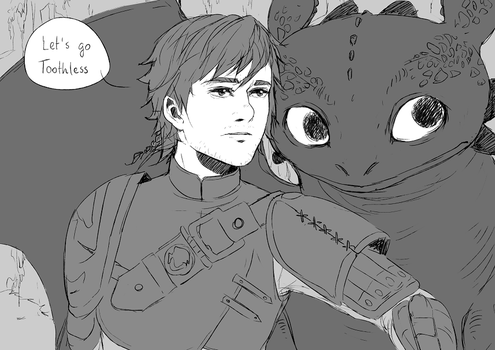 Let's go Toothless (How to train your dragon 2) by sushi-shi