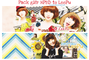 Pack gift HPBD to LeePu by LPuKirino