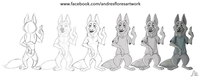 sketch  process wolf by ndres-007
