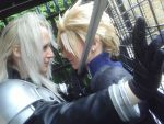 Sephiroth and Cloud 1 by Sephirayne