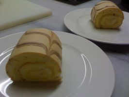 banana roulade by snaplilly