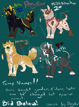 PittyFen Adoptables ~~Closed~~ by Creativeimaginez