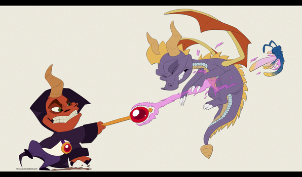 Ripto VS Spyro by Ityrane