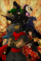 The Ninjas of DeviantART by Sketchfighter316