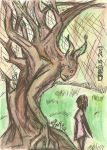 Harold and Sapling Yew by Cirprius