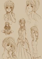 Clare Character Sketches by HopelessStories