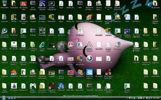 too many icons on desktop by 456kn