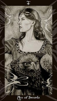 HP Tarot - Ace of Swords by Ellygator
