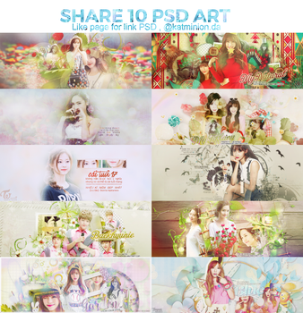 PACK SHARE 10 PSD ART by KatMinion