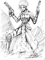 Female Vash the Stampede by johnjoseco