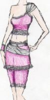 Pink outfit design by Nataly-Kumamoto