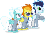 Wonderbolt relay team by Vector-Brony