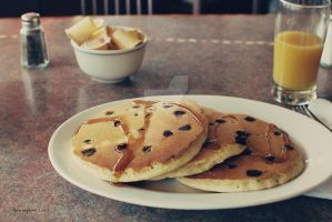 Chocolate Chip Pancakes by love-in-focus-Photo