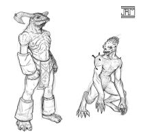 Creature sketches by Luneder
