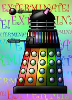 Rainbow Dalek by Jedni