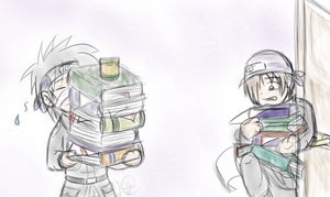 Kotetsu and Izumo - On the Job by kat-thefox