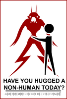 Have you hugged a non human by Essoe