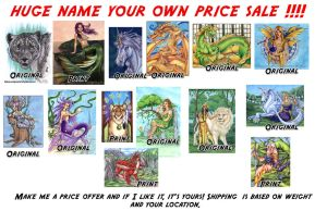 Name your Own Price Sale ! by lady-cybercat
