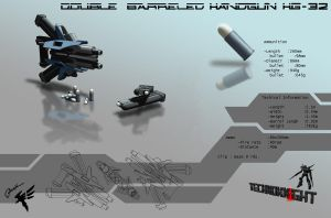 Handgun 1 by Cyber--Hawk