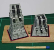 Turbolaser Towers - Star Wars miniature by SarienSpiderDroid
