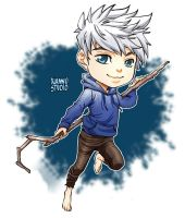 Fanart -Chibi Jack Frost - Rise of the Guardians by xiannustudio