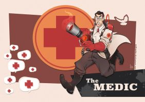 TF2 - The Medic (RED) by nellroshe
