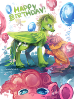MLP : happy birthday Twitch! by AquaGalaxy