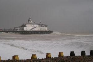 stormy pier by Tiger--photography