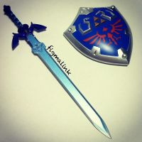 The Master Sword and Hylian Shield by FigmaStory