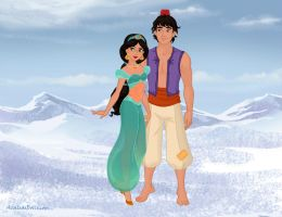Aladdin and Jasmine by M-Mannering
