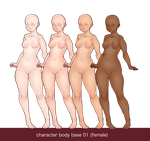 Character bases - female - 01 by yasa-hime