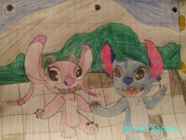stitch and angel in italy .1 by STITCH62633